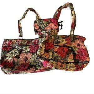 3-Piece Vera Bradley Pink Floral Purses & Wallet